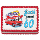 Partypro 43030 50'S Hot Rod Edible Icing Art