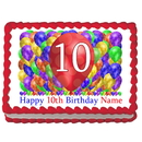 Partypro EDIBLE-BB10 10Th Birthday Balloon Blast Edible Image