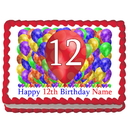 Partypro EDIBLE-BB12 12Th Birthday Balloon Blast Edible Image