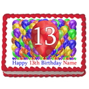 Partypro EDIBLE-BB13 13Th Birthday Balloon Blast Edible Image