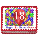 Partypro EDIBLE-BB18 18Th Birthday Balloon Blast Edible Image