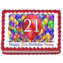 Partypro EDIBLE-BB21 21St Birthday Balloon Blast Edible Image