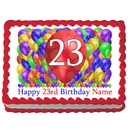 Partypro EDIBLE-BB23 23Rd Birthday Balloon Blast Edible Image