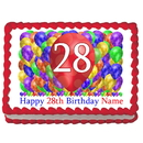Partypro EDIBLE-BB28 28Th Birthday Balloon Blast Edible Image