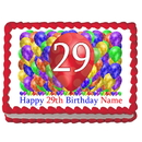 Partypro EDIBLE-BB29 29Th Birthday Balloon Blast Edible Image