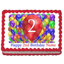Partypro EDIBLE-BB2 2Nd Birthday Balloon Blast Edible Image