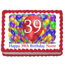 Partypro EDIBLE-BB39 39Th Birthday Balloon Blast Edible Image