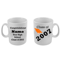 Partypro MUG-GRADORANGE Graduation Mug Customized - Orange