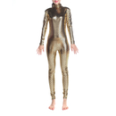TOPTIE Adult Unitard Bodysuit Dancewear, Fish Scales Mermaid Costume Leggings