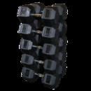 Body-Solid 80 to 100LB Rubber Coated Hex Dumbell Set