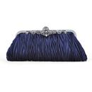 TopTie Pleated Satin Clutch, Retro Evening Handbag, Gift Idea