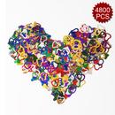 Aspire 4800PCS Heart Table Confetti Party Supply, Glitter Colorful Anniversary Wedding Decoration