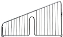 Quantum 1006DHB Partition Hanging Basket Dividers - Chrome, 10