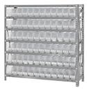 Quantum 1239-100CL Clear-View Shelf Bin Units, 12