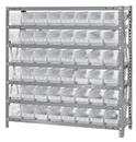 Quantum 1239-101CL Clear-View Shelf Bin Units, 12