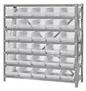 Quantum 1239-102CL Clear-View Shelf Bin Units, 12