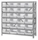 Quantum 1239-107CL Clear-View Shelf Bin Units, 12
