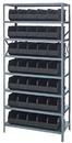 Quantum 1275-441 Stackable Shelf Bin Steel Shelving Systems, 35 SSB441