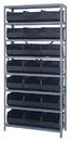 Quantum 1275-445 Stackable Shelf Bin Steel Shelving Systems, 21 SSB445