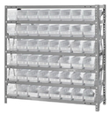 Quantum 1839-103CL Clear-View Shelf Bin Shelving System, 18