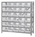 Quantum 1839-104CL Clear-View Shelf Bin - Complete Steel package, 18
