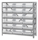 Quantum 1839-110CL Clear-View Shelf Bin - Complete Steel Package, 18