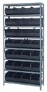Quantum 2475-483 Stackable Shelf Bin Steel Shelving Systems, 28 SSB483