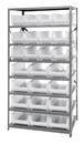 "Quantum 2475-950952CL Clear-View Hulk 24"" - Complete Steel Package, 12 QUS950CL, 12 QUS952CL BINS"