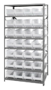 "Quantum 2475-950CL Clear-View HULK 24"" Complete Steel Package, 28 QUS950CL BINS"