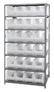 "Quantum 2475-951CL Clear-View HULK 24"" - Complete Steel Package, 24 QUS951CL BINS"