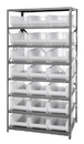 "Quantum 2475-952CL Clear-View HULK 24"" - Complete Steel Package, 21 QUS952CL BINS"