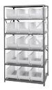 "Quantum 2475-953CL Clear-View HULK 24"" - Complete Steel Package, 15 QUS953CL BINS"