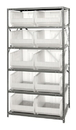 "Quantum 2475-954CL Clear-View HULK 24"" - Complete Steel Package, 10 QUS954CL BINS"