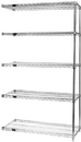 Quantum AD54-2424C-5 Wire Shelving Add-on Kit, 24