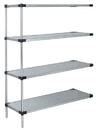Quantum AD86-1448SG Solid Shelving 4-Shelf Add-On Units, 14