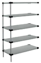 Quantum AD86-1860SG-5 Solid 5-Shelf Add-On Units, 18