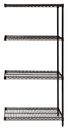 Quantum AD86-2424BK Wire Shelving Add-on Kit, 24