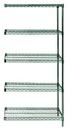 Quantum AD86-2442P-5 Wire Shelving 5-Shelf Add-On Units - Proform, 24
