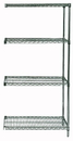 Quantum AD86-2448P Wire Shelving Add-on Kit, 24