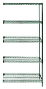 Quantum AD86-3672P-5 Wire Shelving 5-Shelf Add-On Units - Proform, 36