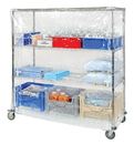 Quantum CC243663CV Wire Cart Clear Vinyl Cover, 24