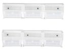 Quantum HNS210CL Clear-View Hang-and-Stack Bin Complete Package, 6 Clear Bins + 2 Rails