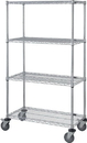 Quantum M1848C46 4 Wire Shelf Mobile Carts (Outside Dimensions: 48