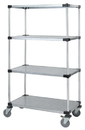 Quantum M1848SG46 4 Solid Shelf Mobile Carts (Outside Dimensions: 48