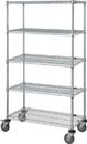 Quantum M1860C47-5 5 Wire Shelf Mobile Cart, 18