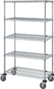 Quantum M2436C46-5 5 Wire Shelf Mobile Cart, 24