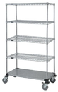 Quantum M2448CG46-5 4 Wire / 1 Solid Shelf Mobile Cart, 24