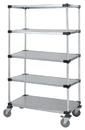 Quantum M2460SG46-5 5 Solid Shelf Mobile Cart, 24