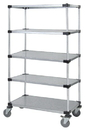 Quantum M2460SG47-5 5 Solid Shelf Mobile Cart, 24
