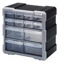 Quantum PDC-12BK Plastic Drawer Cabinets, Cabinet with 12 Plastic Drawers